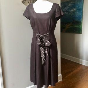 TALBOTS Brown Silk Blend Dress